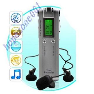 New 4GB Digital Dictaphone FM Voice Activated Recorder