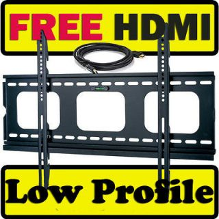 SLIM LOW PROFILE FLAT WALL MOUNT BRACKET 37 40 42 46 47 50 55 58
