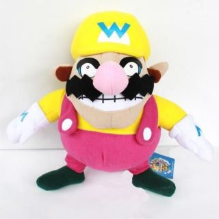 Nintendo Super Mario Bros Plush Toy Wario Soft Figure Fluffy Stuffed