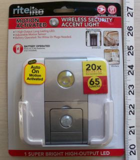 RITELITE Wireless Motion Activated Security LED Light No Wires or