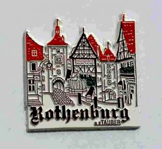 ROTHENBURG ob der TAUBER Germany Die Cut Refrigerator Magnet ~ NEW
