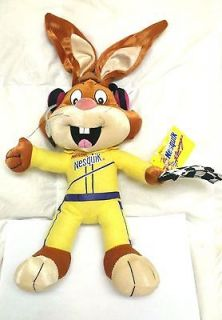 Large NESTLE 18 Stuffed Soft Plush Racing Themed NESQUIK BUNNY RABBIT