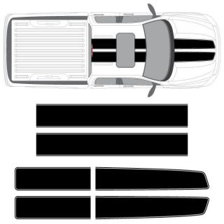 Dodge Ram EZ Rally Racing Stripes with Outline, 3M Stripe Decals