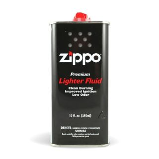 New 12 oz ZIPPO LIGHTER FLUID CAN FUEL FLUID FOR ALL ZIPPO POCKET