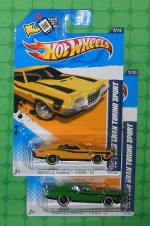 2012 Hot Wheels Muscle Mania   Ford   72 Ford Gran Torino Sport (2