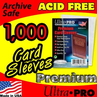 1000 ACEO   ATC PREMIUM CLEAR PLASTIC CARD SLEEVES
