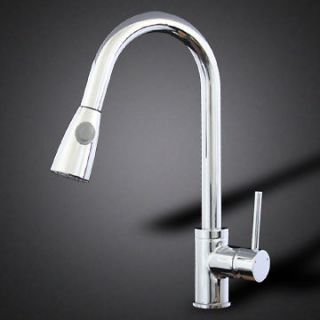 Polished Chrome Kitchen Sink Faucet Pull Out Down Tap Bar Swivel Spout