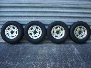 Chevy GMC 8 Lug Alloy Wheels & Bridgestone Tires (4)