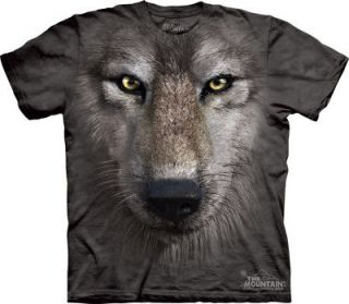THE MOUNTAIN WOLF FACE WILD ANIMAL FACE T SHIRT XXL