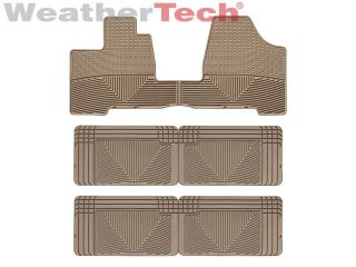 WeatherTech® All Weather Floor Mats   Toyota Sienna   2004 2010   Tan