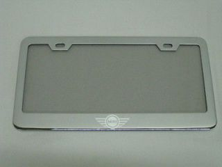 Chrome Metal Auto License Plate Frame MINI COOPER   LOGO   (Fits More