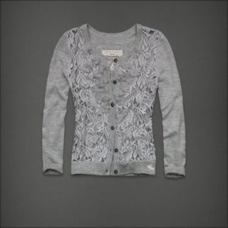 Abercrombie & Fitch Women Floral Lace Cardigan Sweater Meredith NWT