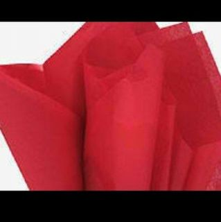 30 Sheets of Red Tissue/gift wrap 20in x 26in (Over 100 Square Feet)