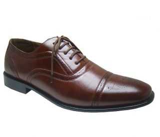 Mens Lace Up Wing Tip Oxfords Dress Shoes Leather Lined Free Shoe Horn