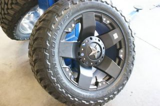 35 20 Inch XD Rockstar Wheels Rims Toyo O/C Mud Tires