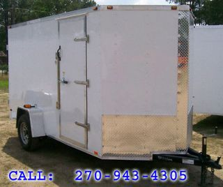 12 long Enclosed Cargo Ramp Motorcycle Trailer 12 foot