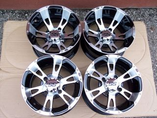 12 HONDA RINCON ITP SS112 ALUMINUM ATV WHEELS NEW SET 4  LIFETIME