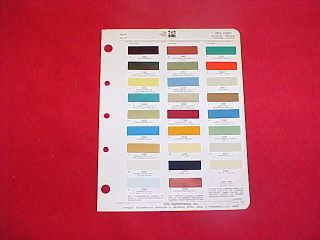1970 FORD FAIRLANE MUSTANG CAR COLOR PAINT CHIP CHART BROCHURE 70