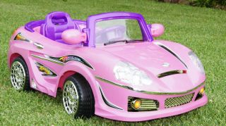 New Pretty Pink Kids Ride on Car 6v Battery Power Electric Wheels RC