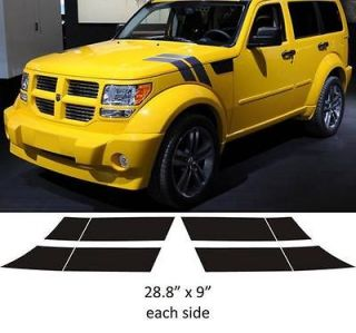 Dodge 2x2 Stripes NITRO DOUBLE BAR Hood decals stickers graphics