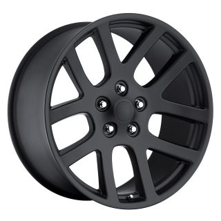 22 22X10 SRT10 Dodge Ram Dakota Durango Wheels Rims Satin Black set