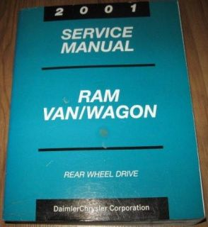 2001 01 Chrysler Corp Dodge Ram Van Wagon Rear Wheel Drive Service