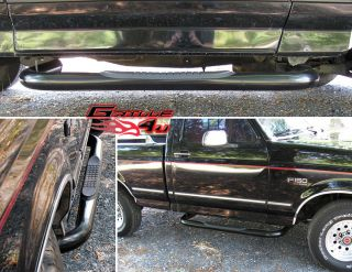 80 96 Ford Bronco/F Serie​s Reg Cab Black Nerf Bars (Fits Bronco)
