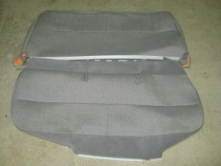 97 07 Ford Econoline Van 3 Passenger Gray Cloth OEM XL Bench Seat