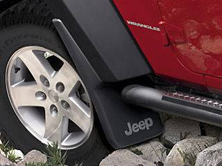 Jeep Wrangler JK 2007 2012 Mopar Splash Guards Mud Flaps OEM FRONT SET