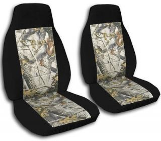 FORD RANGER CAR SEAT COVERS BLACK/ REAL TREE CAMO COMBINATION 60/40 HI