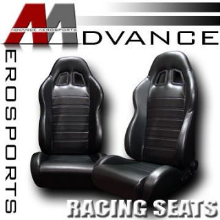 PVC Leather Sport Racing Bucket Seats+Sliders 26 (Fits Lotus Esprit