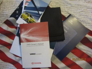 2009 Toyota Yaris Owners Manual Portfolio w/Pouch