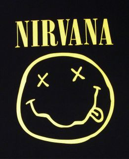 NIRVANA Smiley Face Tour T shirt Kurt Cobain Rock Tee 3XL