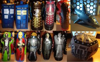 INFLATABLE BLOW UP TOY FIGURES ALIENS MONSTERS TARDIS COLLECTION LOT