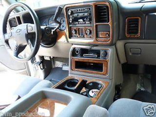 TAHOE SUBURBAN LS LT INTERIOR WOOD DASH TRIM KIT 2003 2004 2005 2006