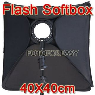 Softbox For SpeedLight Flash 40cm / 16 Flash Speedlite Soft box