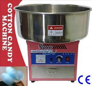 Commercial Cotton Candy Machine Pink Electric Floss Maker DEMO VIDEO