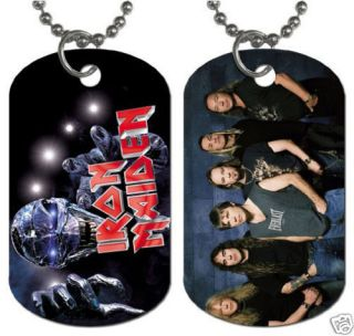 New Iron Maiden British Heavy Metal Dog Tag Necklace 2