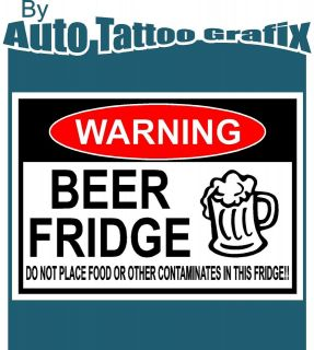 BEER FRIDGE WARNING Decal Sticker BEER FUNNY GIFT PS3