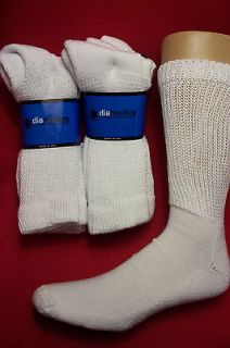12 pr Dr Scholls Cushion Diabetic Socks, 10 13 White, New