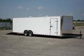 28 10k 8.5x28 Enclosed Cargo Auto Car Hauler 8.5 X 28 RACE READY