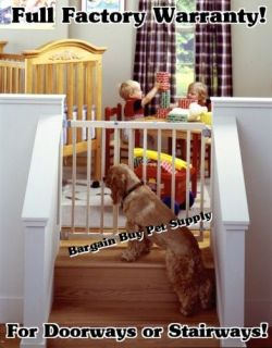 North States Wood Stairway Swing Child Dog Gate #4630