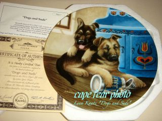 Lynn Kaatz A DOGS LIFE German Shepherd Puppies Plate