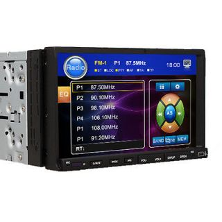 Double 2 Din 7 Car DVD Player Touch Screen SWC Anti Shock