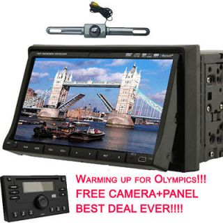 Ouku Double Din 7 LCD Car DVD CD FM Player Ipod Bluetooth+Came​ra+