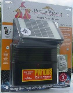solar electric fence charger energizer 12 volt power wizard