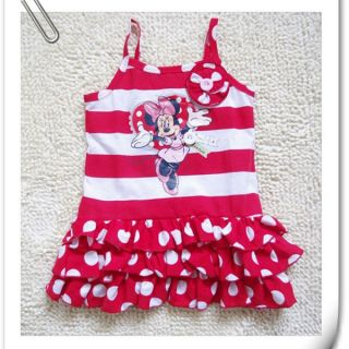 Girls Baby Size 2 3 4 Minnie Mouse Costume Party Dress Polka Dots