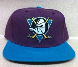 CUSTOM ANAHEIM MIGHTY DUCKS SNAPBACK HAT CAP LOGO FLAT BILL 2 TONE NEW