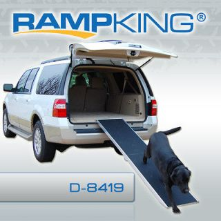RAMP KING ALUMINUM PORTABLE LONG FOLDING DOG CAT PET TRAVEL RAMPS D