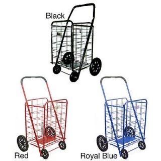 Extra Large Heavy duty Shopping Cart     Black